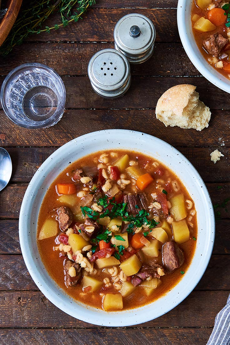 Beef & Barley Vegetable Soup Recipe