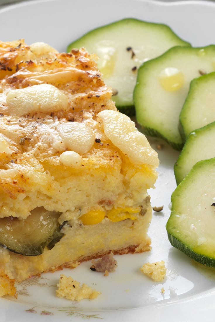 Zucchini and Sausage Strata Recipe