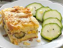 Zucchini and Sausage Strata