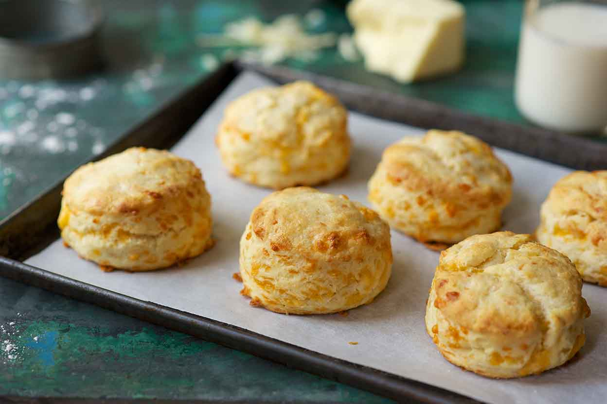 Savory Cheddar Cheese Biscuits Recipe | King Arthur Flour