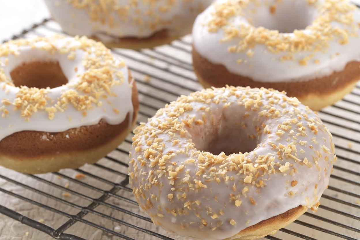 Gluten-Free Classic Baked Doughnuts made with baking mix ...