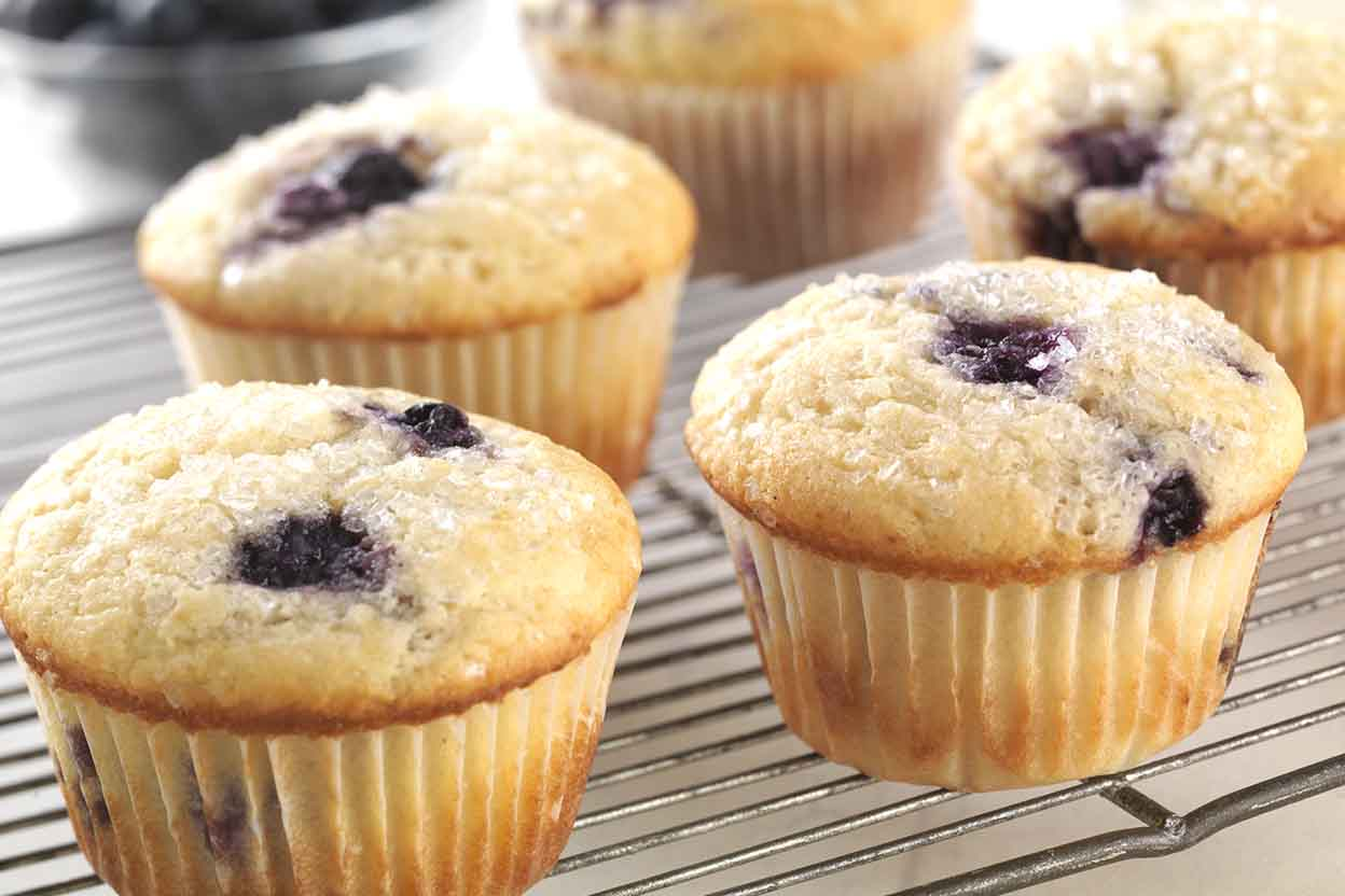 Gluten Free Blueberry Muffins Made With Baking Mix Recipe