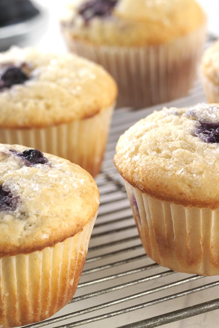 Gluten-Free Blueberry Muffins made with baking mix Recipe