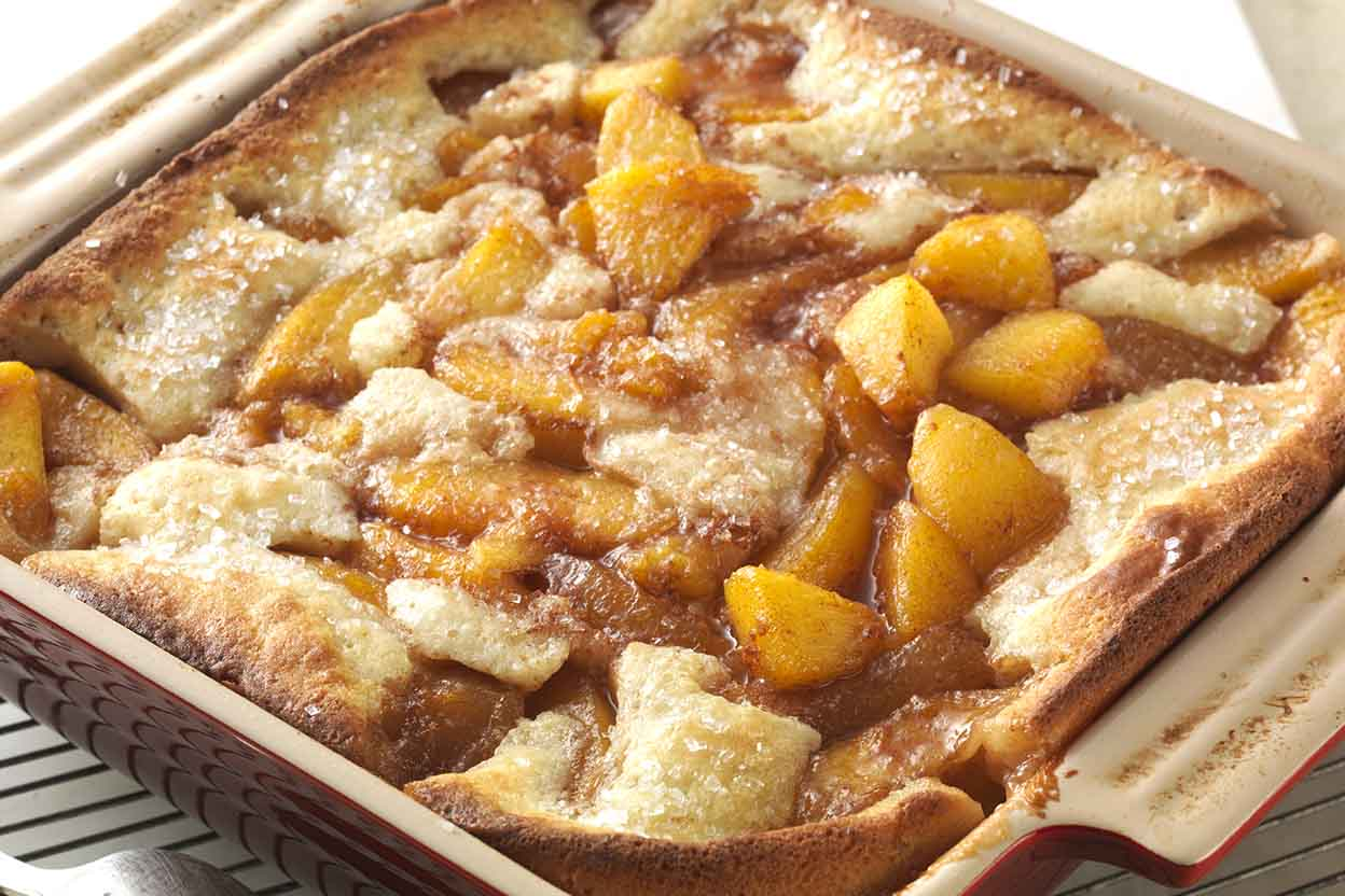 Gluten-Free Peach Cobbler made with baking mix Recipe ...