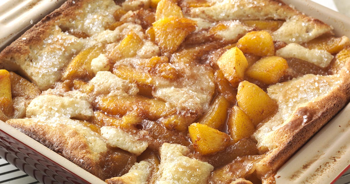 Gluten-Free Peach Cobbler made with baking mix Recipe   King Arthur ...