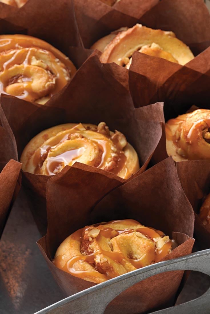Caramel-Apple Cinnamon Buns Recipe