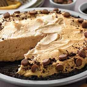 Chocolate-Peanut Butter-Banana Icebox Pie