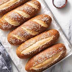 Pretzel Sandwich Buns