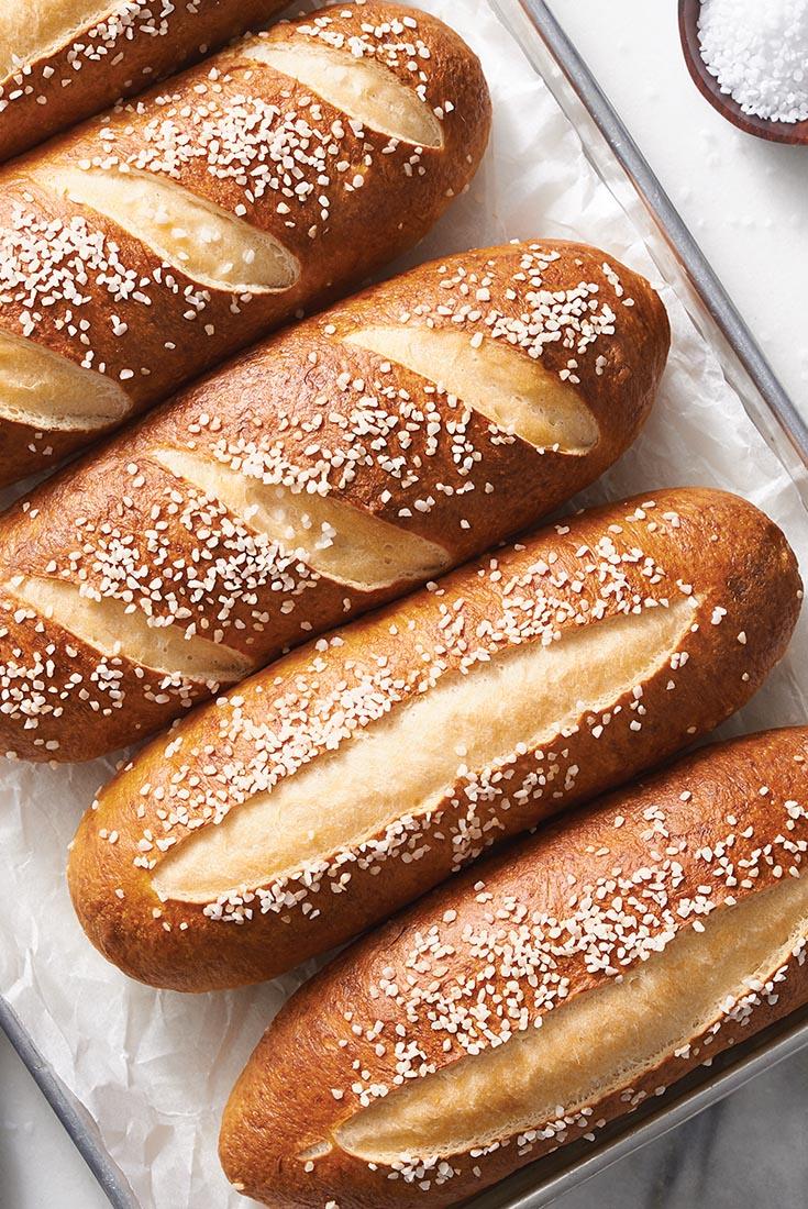 Pretzel Sandwich Buns Recipe
