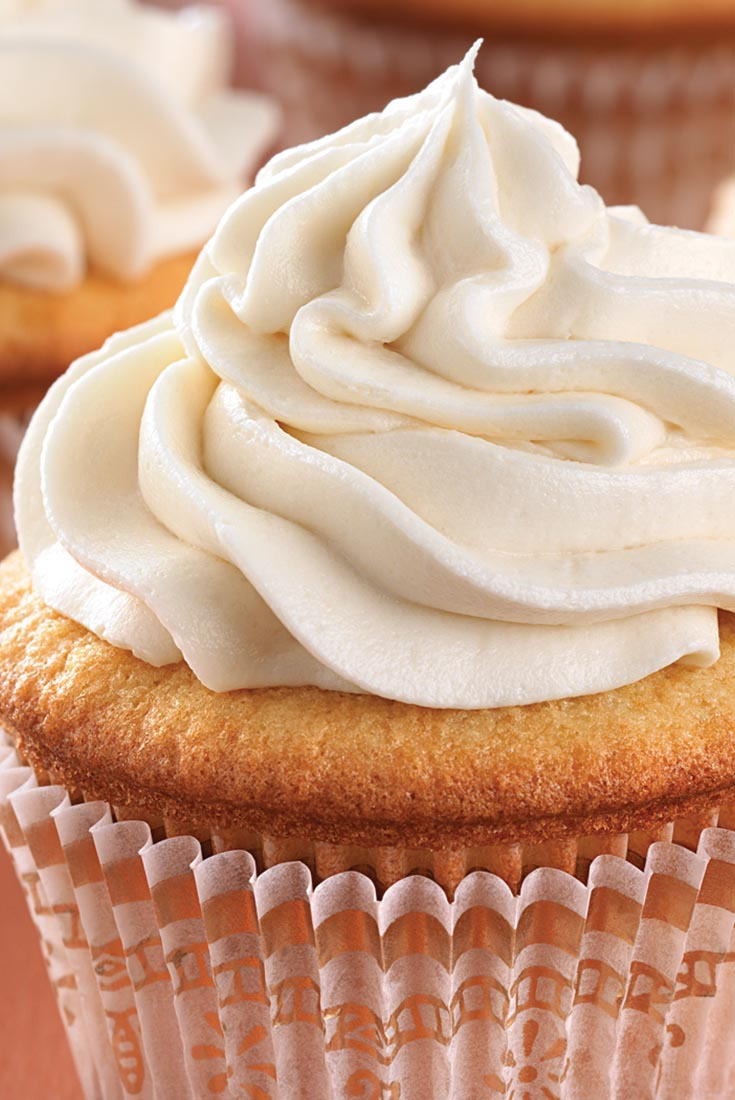 Ultra-Vanilla Cupcakes with Easy Vanilla Frosting Recipe