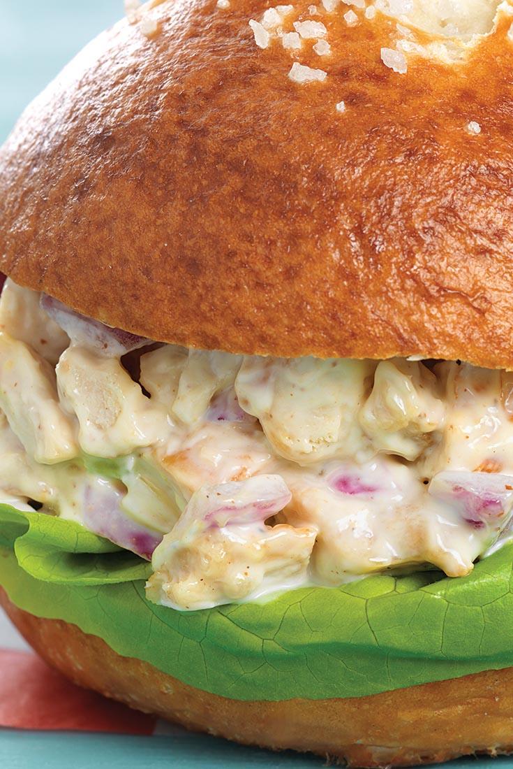 Maple Mustard Chicken Salad Sandwiches Recipe