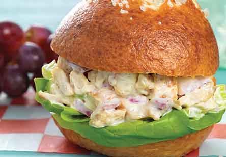 Maple Mustard Chicken Salad Sandwiches