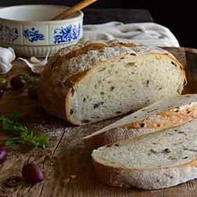 Rustic Olive Sourdough Bread
