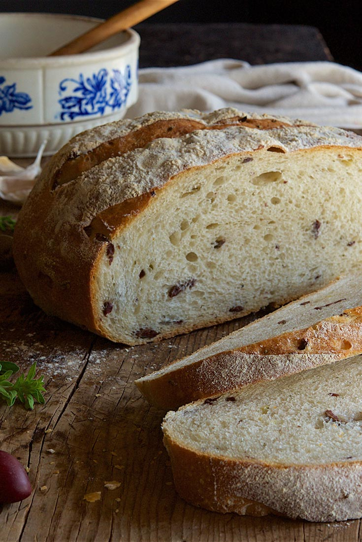 Rustic Olive Sourdough Bread Recipe