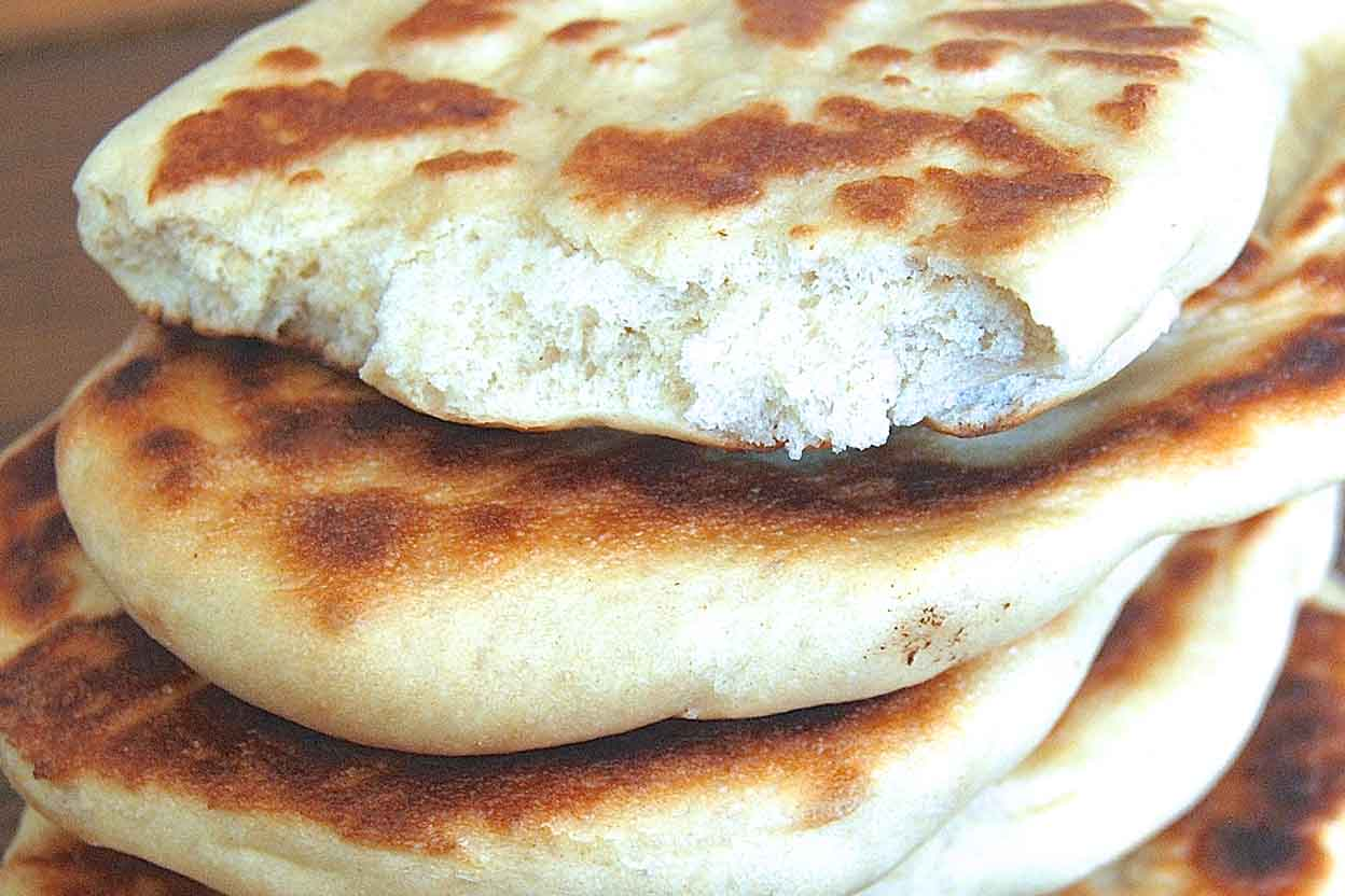 Whole Wheat Naan With Raita Recipe King Arthur Flour