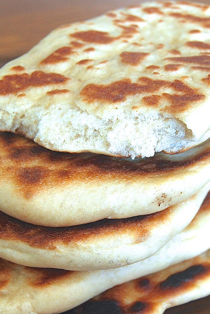 Whole Wheat Naan with Raita Recipe