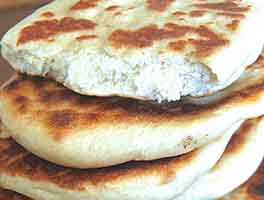 Whole Wheat Naan with Raita