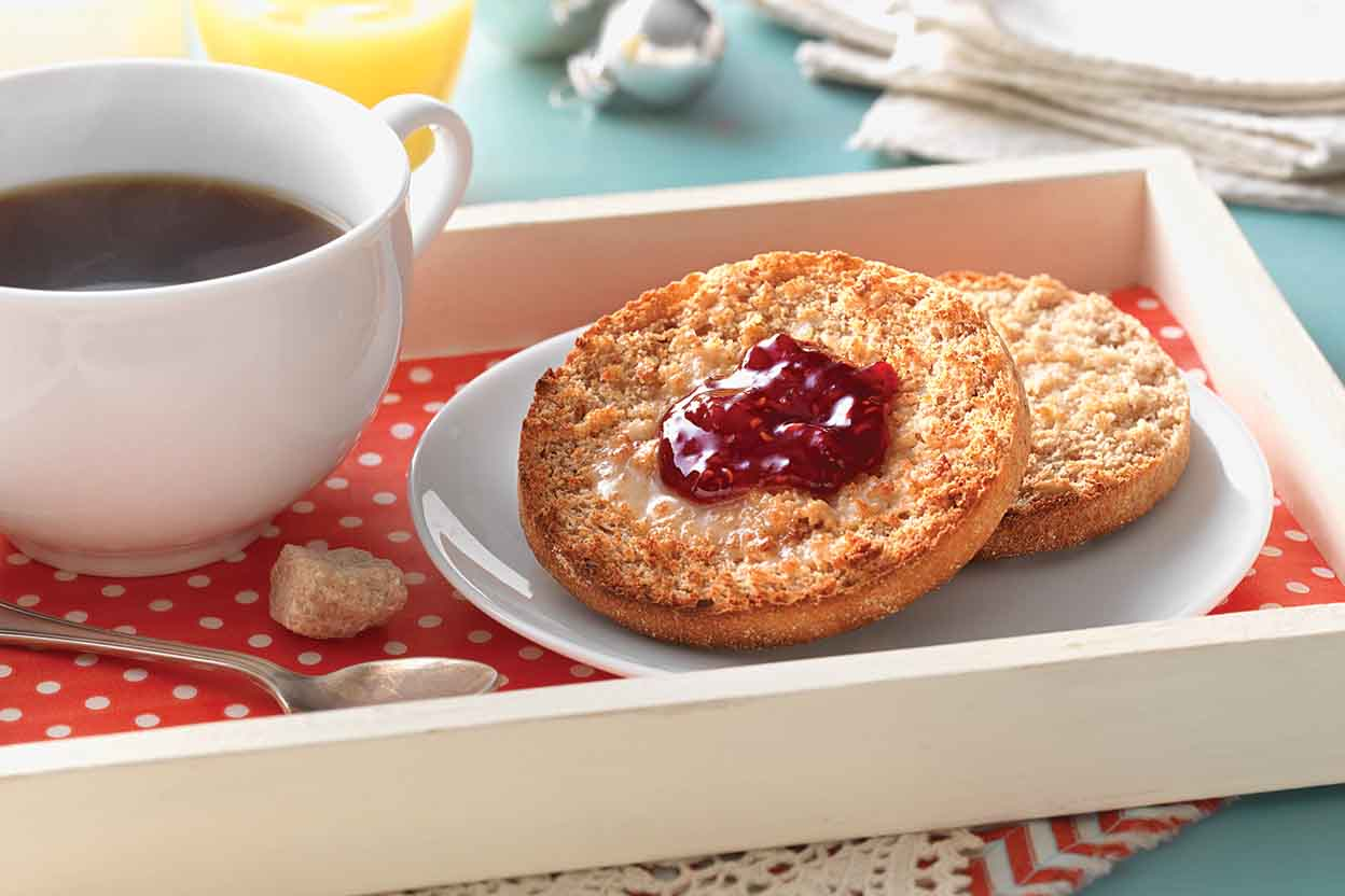 Baked cinnamon english muffins recipe king arthur flour forumfinder Image collections