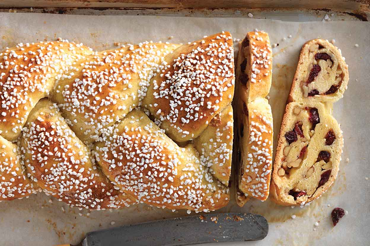 Cranberry orange braided bread recipe king arthur flour - Make delicious sweet bread christmas ...