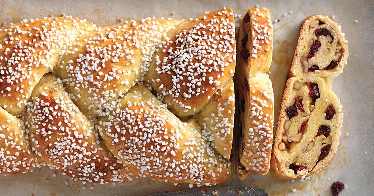 Cranberry Orange Braided Bread Recipe King Arthur Flour