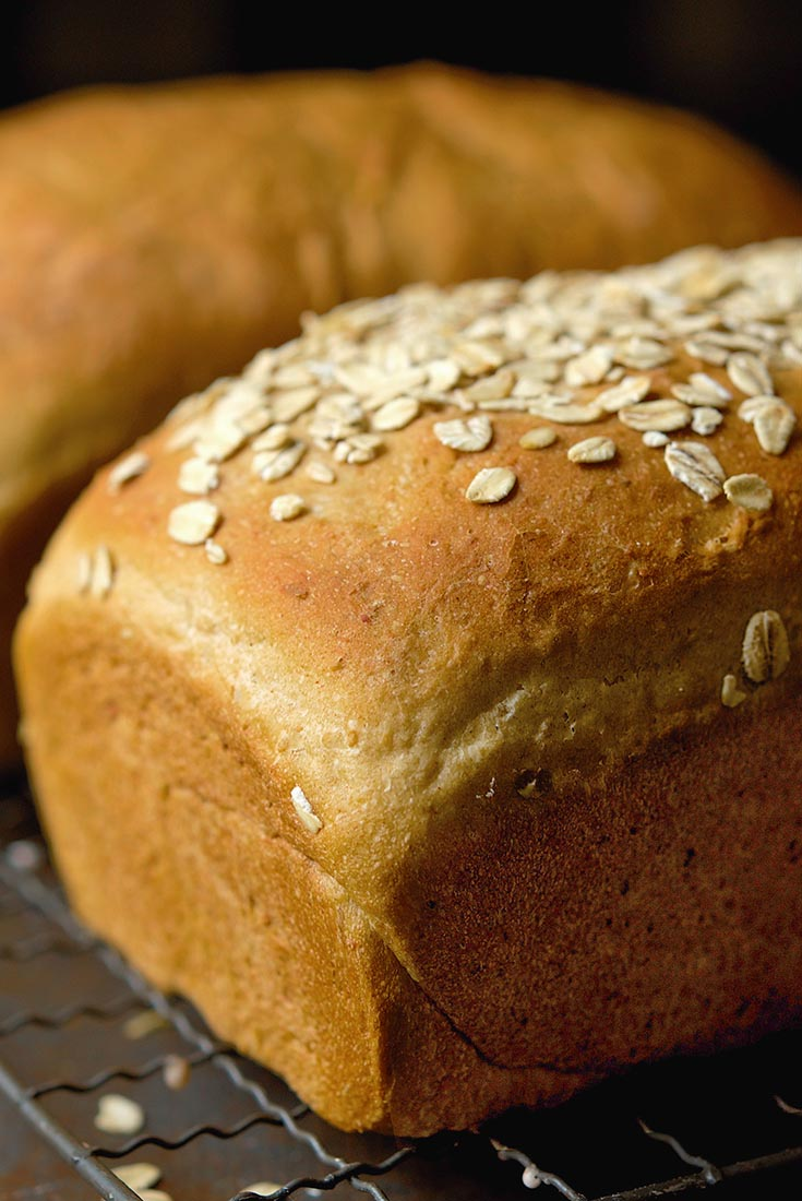 Vermont Whole Wheat Oatmeal Honey Bread Recipe