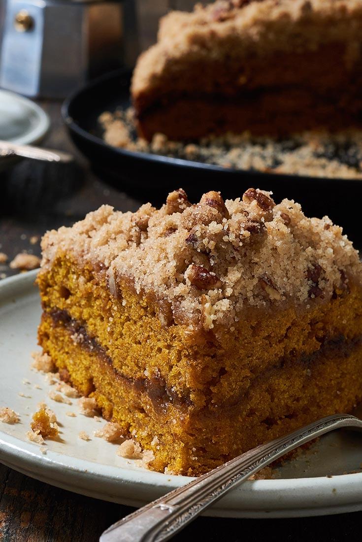 Pumpkin Streusel Coffeecake Recipe