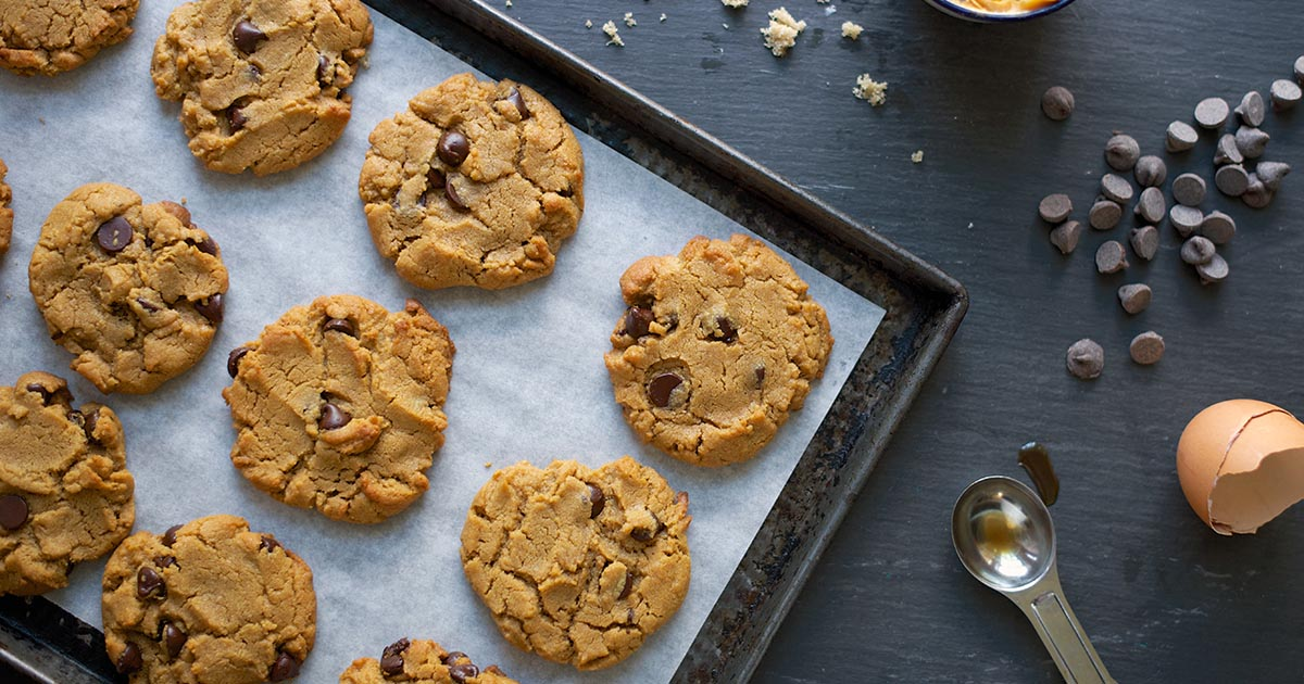 Flourless Peanut Butter Chocolate Chip Cookies Recipe King Arthur