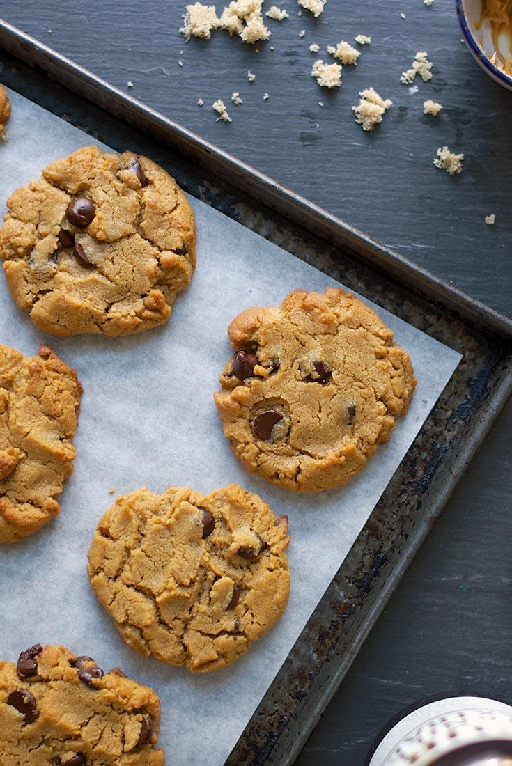 Flourless Peanut Butter Chocolate Chip Cookies Recipe