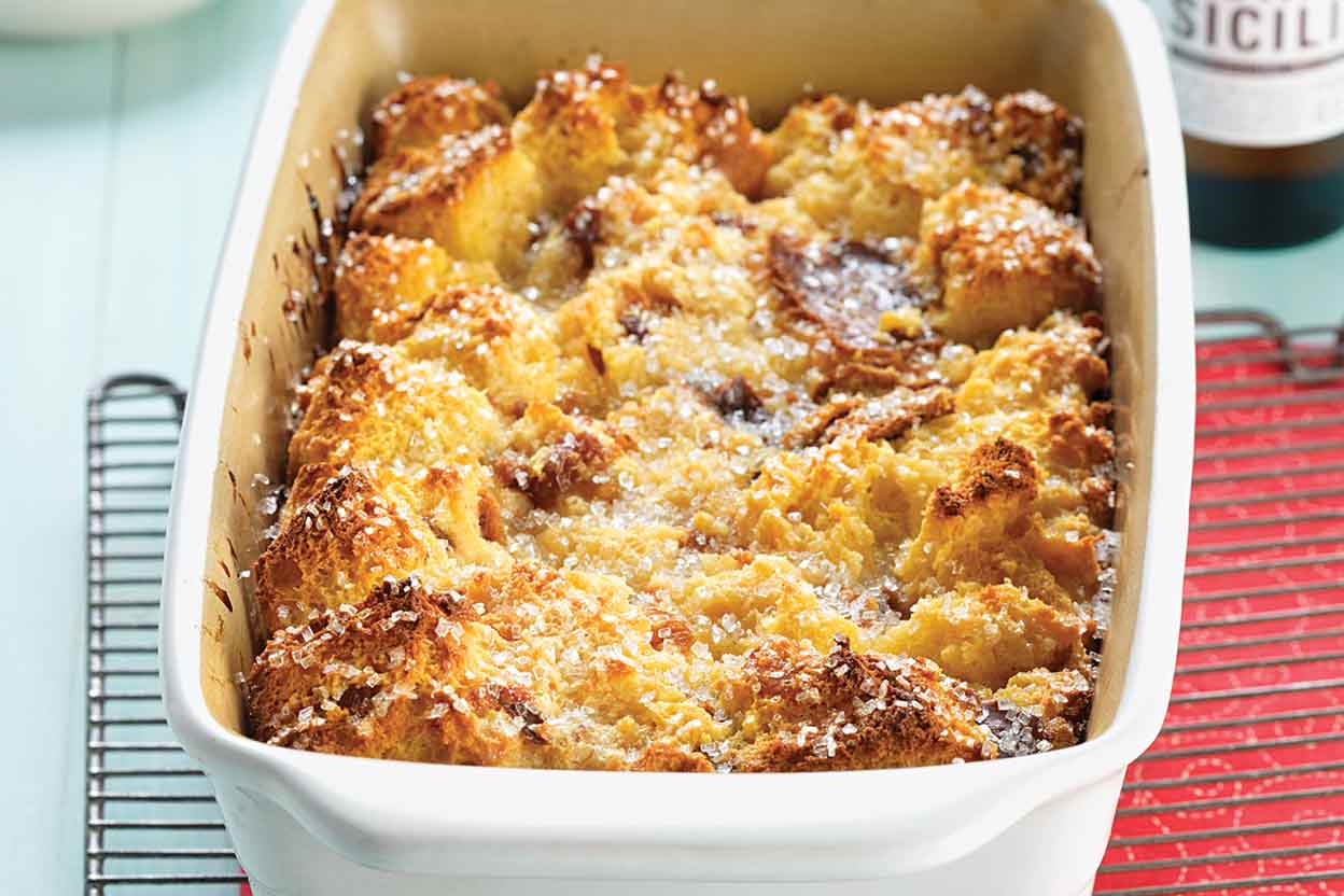 Panettone Bread Pudding With Lemon Filling Recipe King