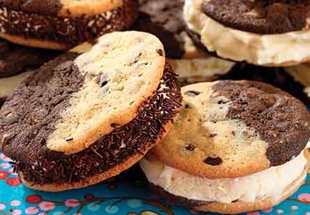 Split Decision Chocolate Chipper Ice Cream Sandwiches