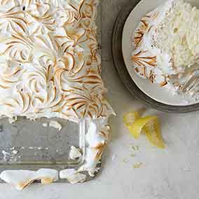 Lemon Meringue Angel Food Cake