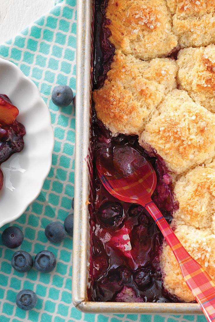 Blueberry-Peach Cobbler    Recipe