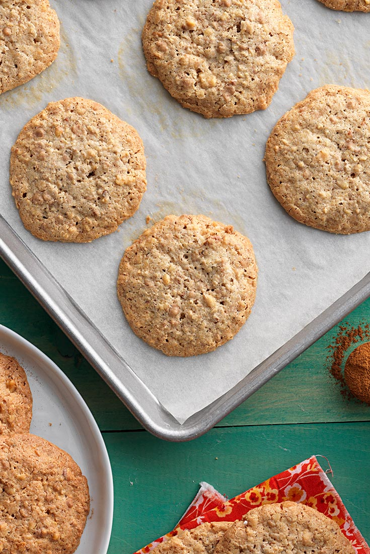 Crunchy Cinnamon-Oat Drops Recipe | King Arthur Flour