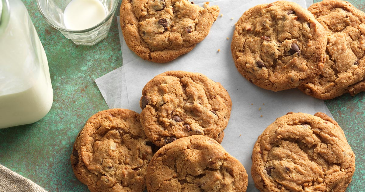 ... Butter Chocolate Chip Cookies with Pecans Recipe | King Arthur Flour