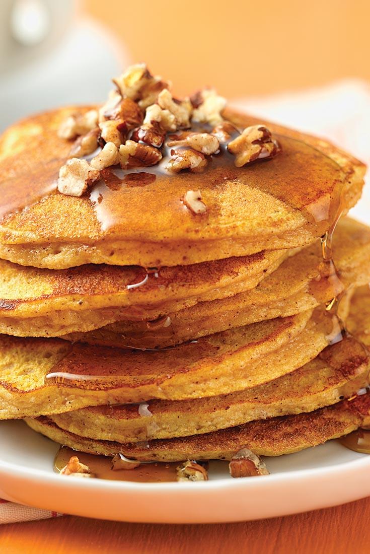 Gluten-Free Pumpkin-Spice Coconut Flour Pancakes  Recipe