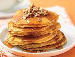 Gluten-Free Pumpkin-Spice Coconut Flour Pancakes