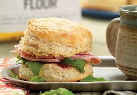 Cheddar-Ham Buttermilk Biscuit Sandwiches