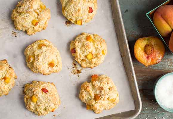Tender Peach Scones