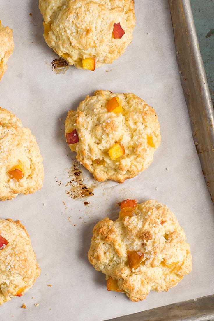 Tender Peach Scones Recipe