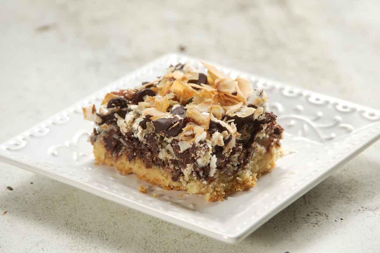 Chocolate Coconut Macaroon Bars Recipe King Arthur Flour