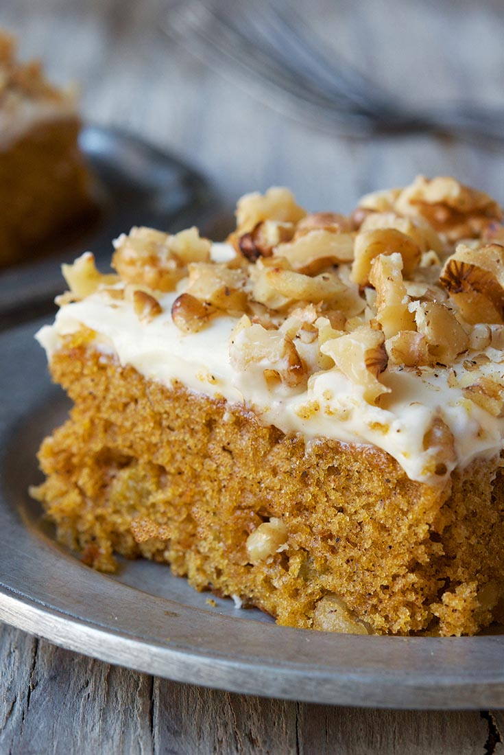 Pumpkin Cake Bars with Cream Cheese Frosting Recipe