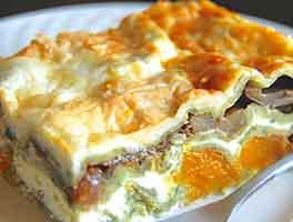 Butternut Squash Spinach Lasagna