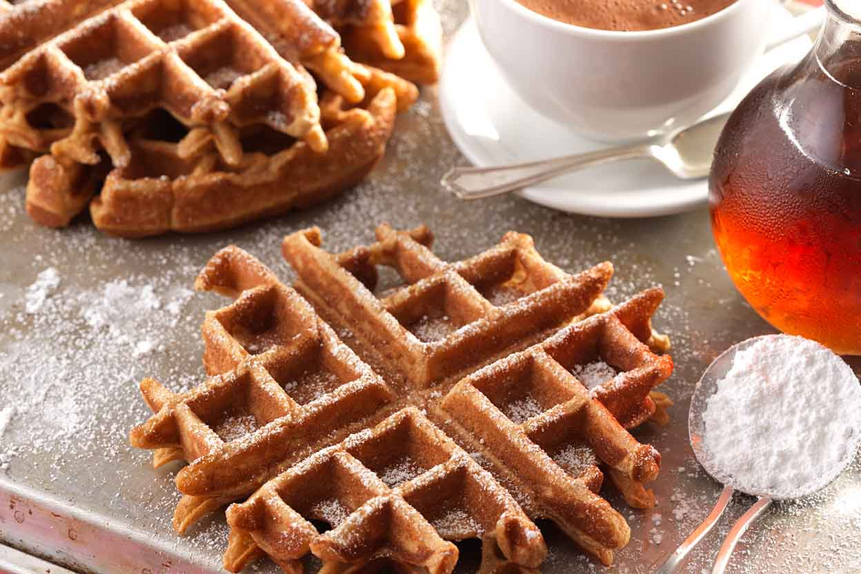 Gingerbread Waffles Recipe | King Arthur Flour