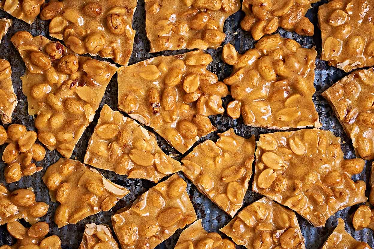 Brittle Candy Without Nuts