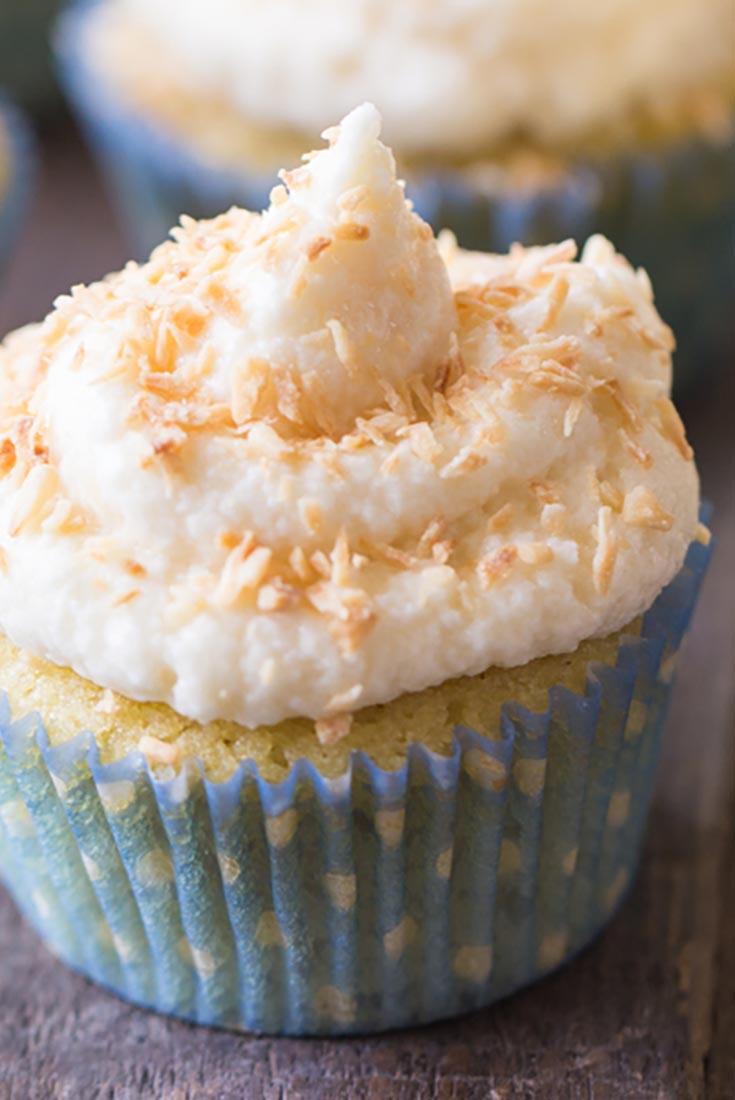 Gluten-Free Vanilla Coconut Flour Cupcakes Recipe