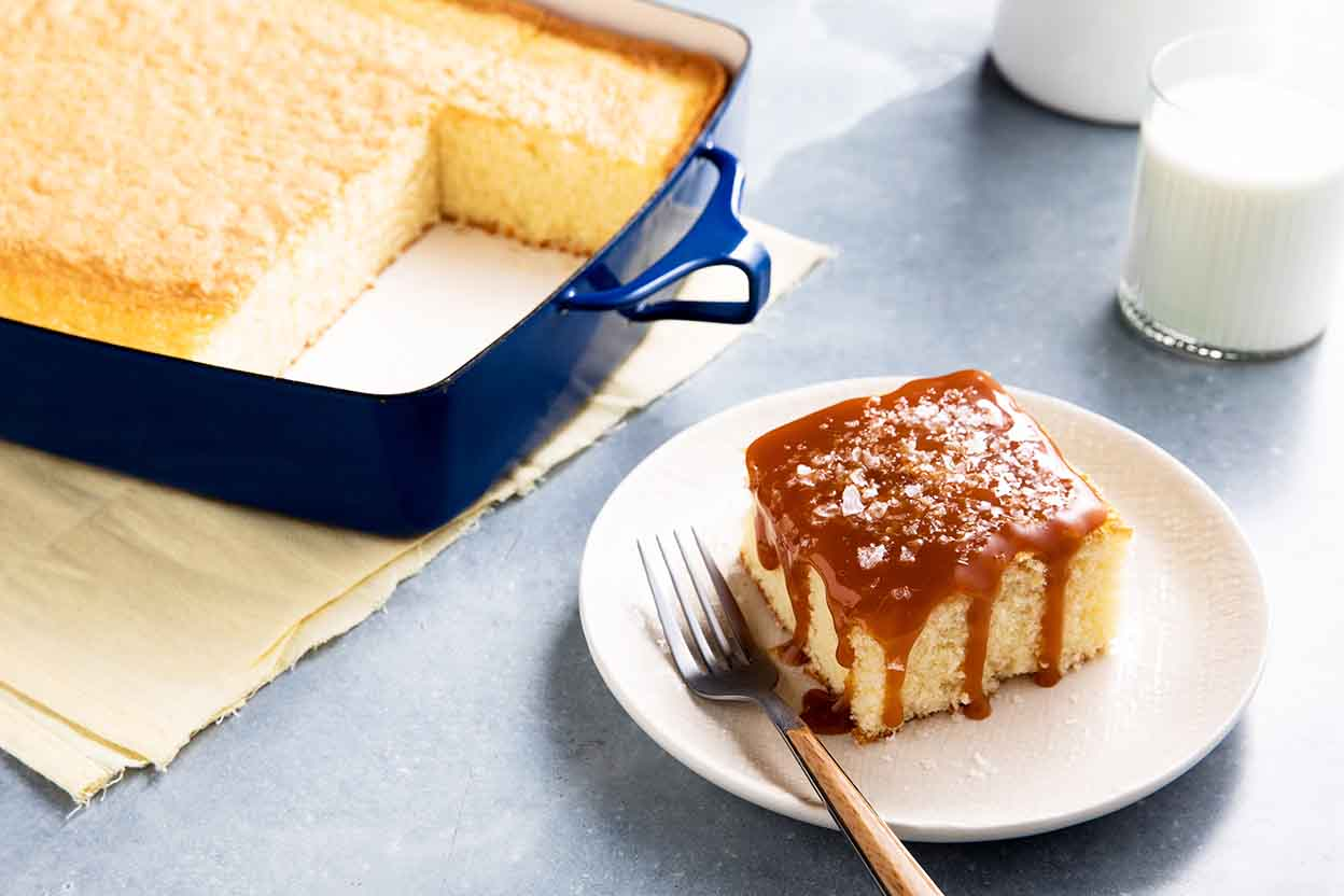 Chef Zeb S Hot Milk Cake Recipe King Arthur Flour