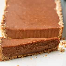 Malted Milk Chocolate Hazelnut Tart