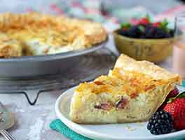 Bacon, Egg & Cheese Quiche