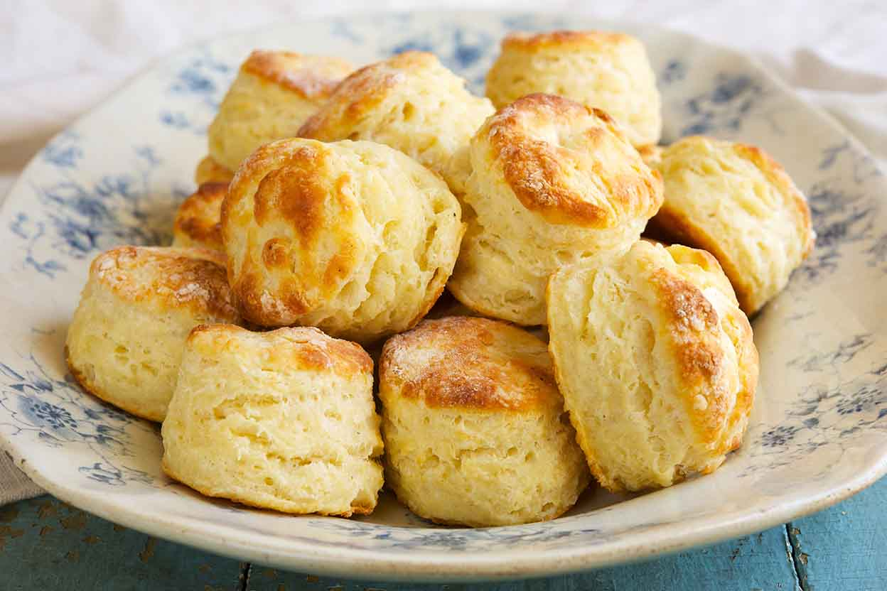 This recipe is simple but a delicious addition to any meal. The children love to dip the ready-made biscuits in butter and coat it with the cheese. Warm from the oven, one biscuit .