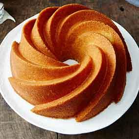 Orange Pound Cake with Bourbon Glaze
